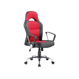 Fotel obrotowy Q-033 czerwono czarny