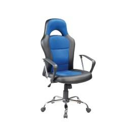 Fotel obrotowy Q-033 niebieski czarny
