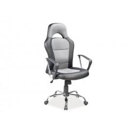 Fotel obrotowy Q-033 szary czarny