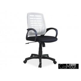 Fotel obrotowy Q-073 biały/czarny