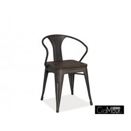 Eleganckie Krzesło Alva orzech / grafit