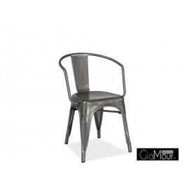 Eleganckie Krzesło Alva stal szczotkowana