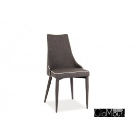 Krzesło Soren w kolorze czarnym