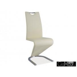 Krzesło H-090 chrom kolor kremowy