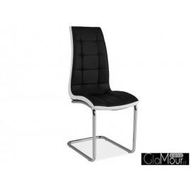 Krzesło H-103 kolor czarno-biały
