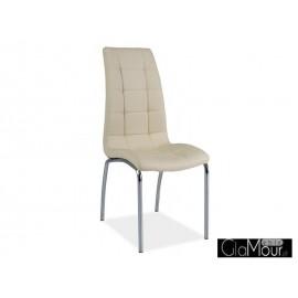 Krzesło H-104 kolor czarny-biały