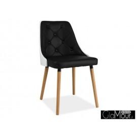 Krzesło Karis kolor czarny+biały