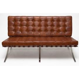 Sofa BA2 2 osobowa jasny brąz skóra TP