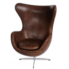 Fotel Jajo brązowy ciemny vintage X-1 Premium