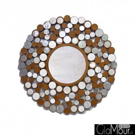 Arletta - okrągłe lustro dekoracyjne w ażurowej, drewnianej ramie