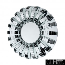 Arche - okrągłe nowoczesne lustro dekoracyjne w ramie lustrzanej
