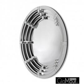 Selene - okrągłe nowoczesne lustro dekoracyjne w ramie lustrzanej