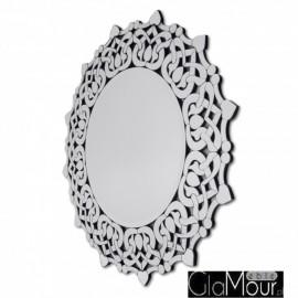Medea - okrągłe lustro dekoracyjne w ażurowej ramie lustrzanej
