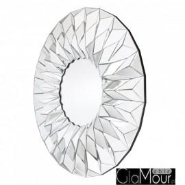 Hecate - okrągłe nowoczesne lustro dekoracyjne w ramie lustrzanej