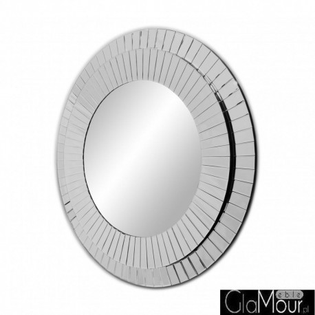 Kleo - okrągłe lustro dekoracyjne w ramie lustrzanej