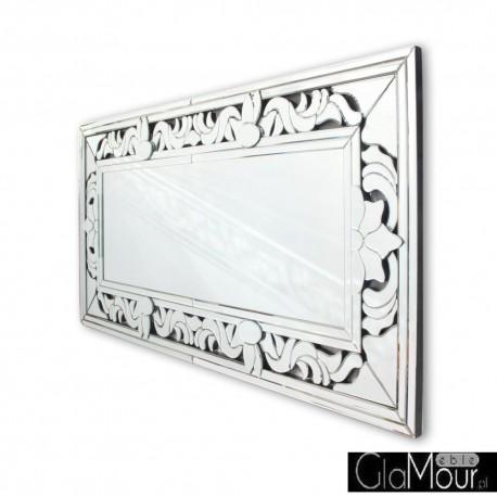 Claris prostokątne lustro dekoracyjne w ramie lustrzanej