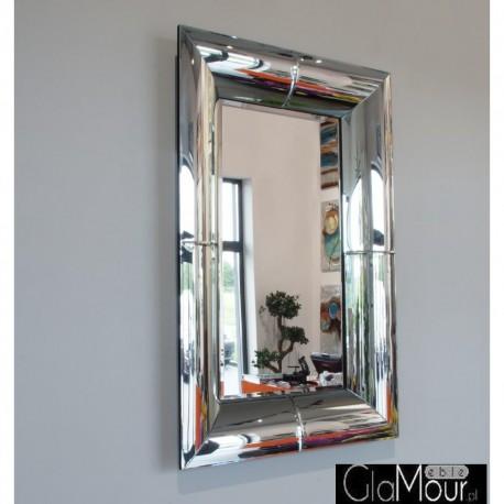 Dione 120x80 - prostokątne lustro dekoracyjne w fazowanej ramie lustrzanej