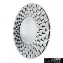 Eris -okrągłe lustro dekoracyjne w ramie lustrzanej