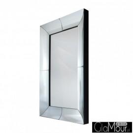 Angelia 120x80 -prostokątne lustro dekoracyjne w fazowanej ramie lustrzanej