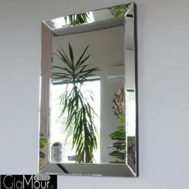 Lyssa - prostokątne lustro dekoracyjne w fazowanej ramie lustrzanej