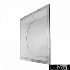 Demeter - kwadratowe lustro dekoracyjne w lustrzanej ramie
