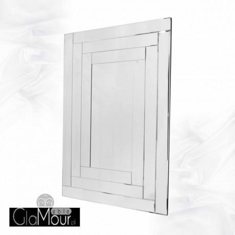Penelopa - prostokątne lustro dekoracyjne w ramie lustrzanej