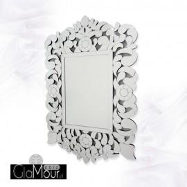 Eurydyka -prostokątne lustro dekoracyjne w ażurowej ramie lustrzanej