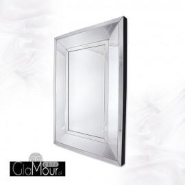 Ava 140x100 - prostokątne lustro dekoracyjne w fazowanej ramie lustrzanej