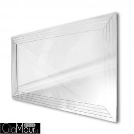 Leda - prostokątne lustro dekoracyjne w lustrzanej ramie