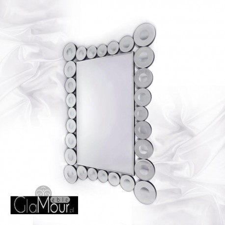 Laura - prostokątne lustro dekoracyjne w ramie lustrzanej