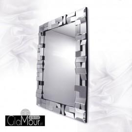 Zuza - prostokątne lustro dekoracyjne w fazowanej ramie lustrzanej
