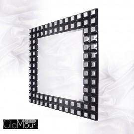 Amy - prostokątne lustro dekoracyjne w ramie lustrzanej