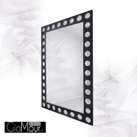 Michell - prostokątne lustro dekoracyjne w ramie lustrzanej