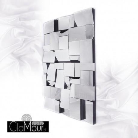 Aga - nowoczesne wielofasetowe lustro dekoracyjne