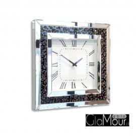 Elegancki kwadratowy zegar ścienny do pokoju