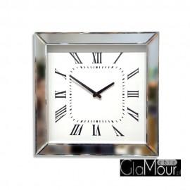 Zegar ścienny z lustrzaną ramą