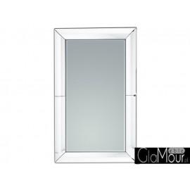 Eleganckie lustro w ramie z białego szkła  GJ430