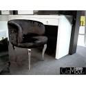 Nowoczesny fotel ze stali nierdzewnej tkanina czarna