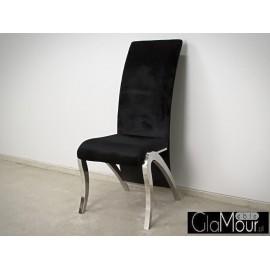 Stylowe  krzesło do salonu tkanina czarna