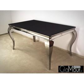 Elegancki stół blat z czarnego hartowanego szkła
