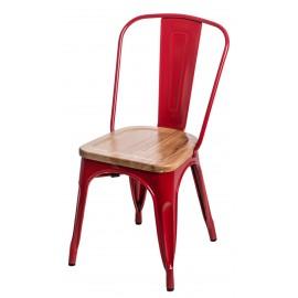Krzesło Paris Wood czerwony jesion