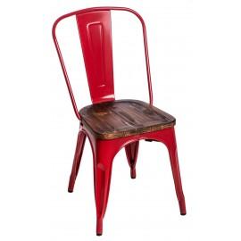 Krzesło Paris Wood czerwony sosna