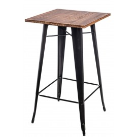 Stół barowy Paris Wood czarny sosna