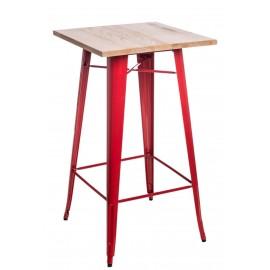 Stół barowy Paris Wood czerwony jesion