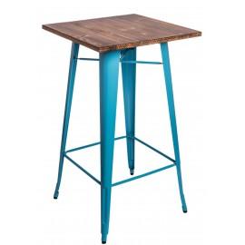 Stół barowy Paris Wood niebieski sosna