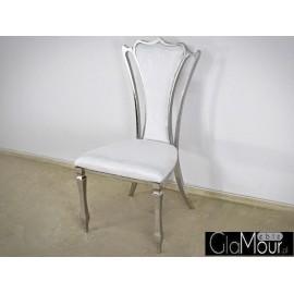 Krzesło do salonu tkanina beżowa