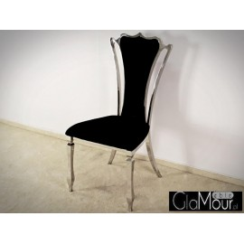 Krzesło do salonu tkanina czarna