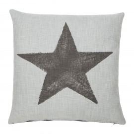 Poduszka Star miętowo-szara 45x45