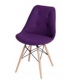 Krzesło Norden DSW pikowane fioletowe
