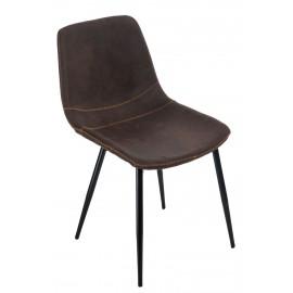 Krzesło Vigo brązowe ciemne